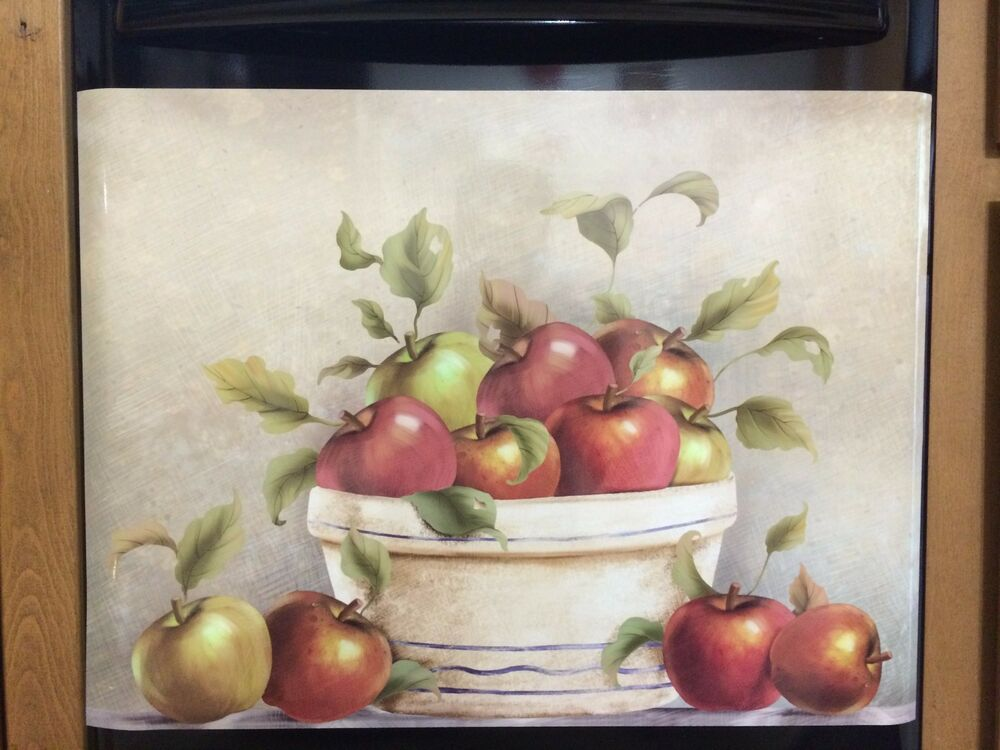 Country Red Apple Dishwasher Magnet Magnetic Cover Kitchen