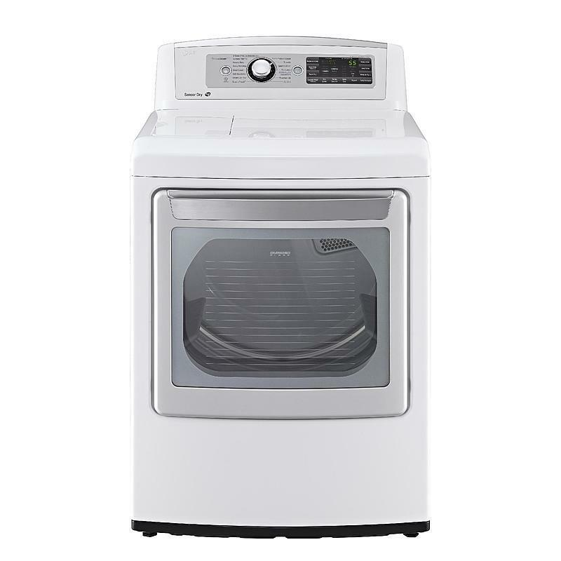 Lg 27 U0026quot  Topload Washer Frontload Electric Dryer Set White