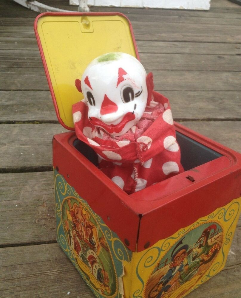 Old Mattel Toys : Antique mattel creations jack in the music box featuring