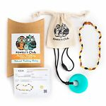 Baltic Amber Necklace GIFT SET - Teeth Pain Relief (Unisex - Multicolor Beans)