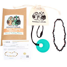 Baltic Amber Necklace GIFT SET - Teeth Pain Relief (Cherry Beans - 12.5