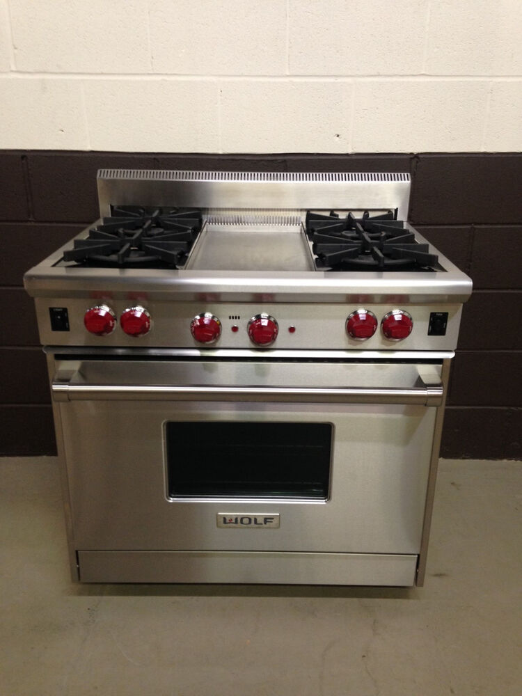 Wolf R364g 36 Professional Gas Range Oven 4 Burner With
