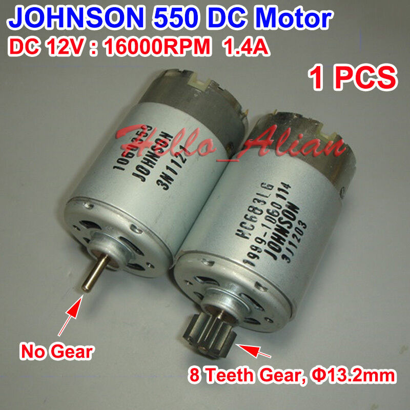 Johnson electric rs 550 motor 12v 16000ppm high speed for Johnson electric dc motors