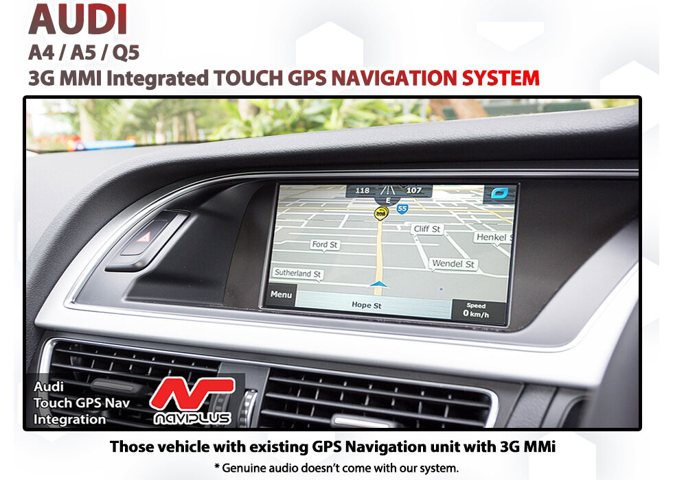 audi a4 a5 q5 3g mmi audio touch gps sat nav upgrade with. Black Bedroom Furniture Sets. Home Design Ideas