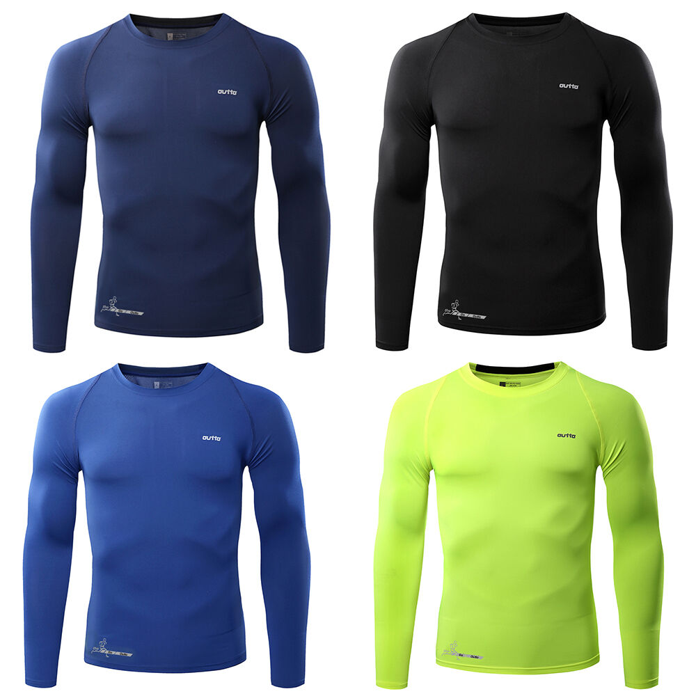 Mens Compression Thermal Under Base Layer Long Sleeve