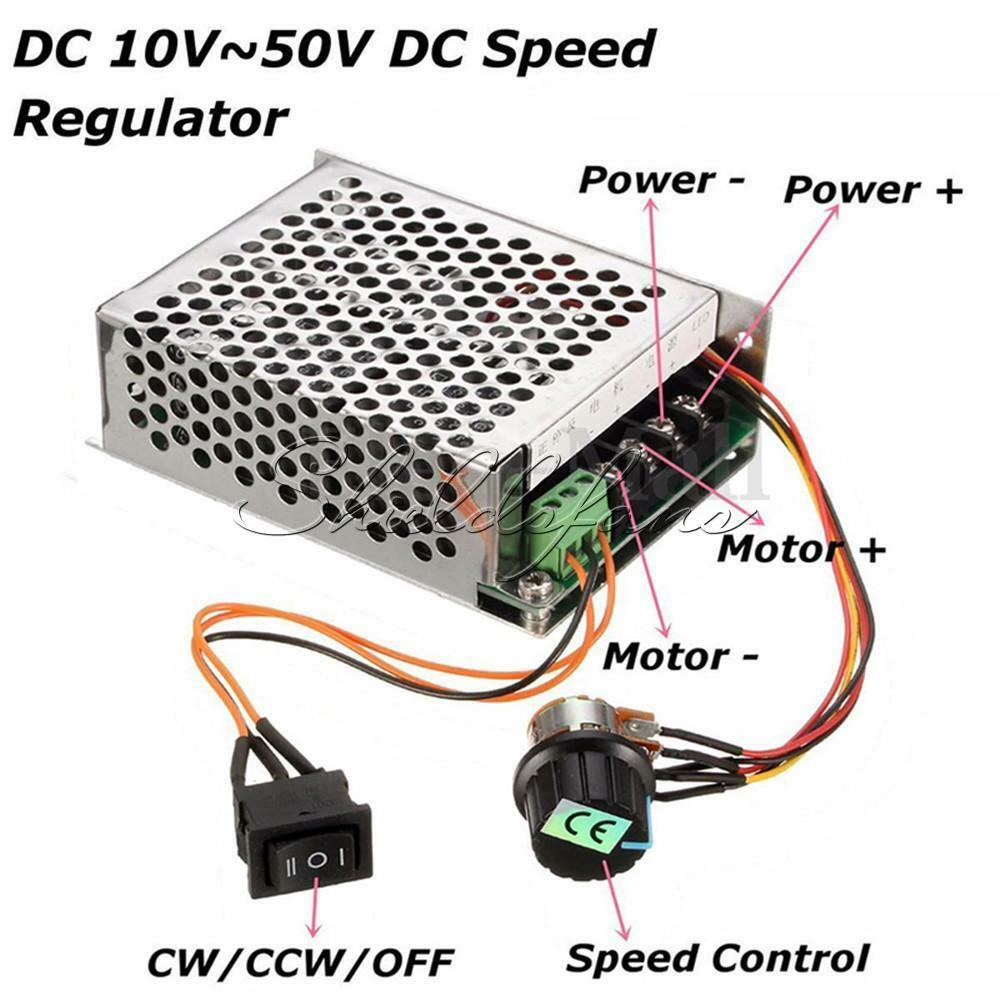 Dc 10 50v Pwm Motor Speed Control Controller Cw Ccw