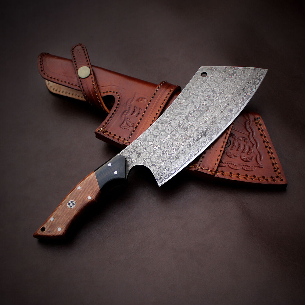 kitchen knives made in the usa damascus chef knife handmade 11 inches micarta handle cleaver jnr1031 ebay 5171