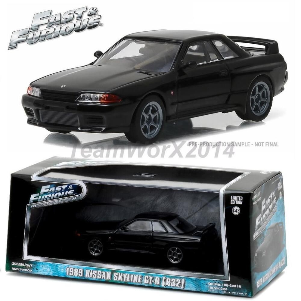 greenlight 86229 1989 nissan skyline furious 7 diecast. Black Bedroom Furniture Sets. Home Design Ideas