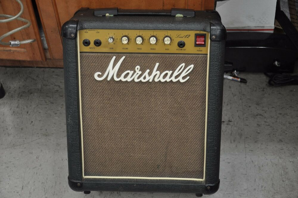 1986 marshall lead 12 5005 combo guitar amp made in england works great ebay. Black Bedroom Furniture Sets. Home Design Ideas