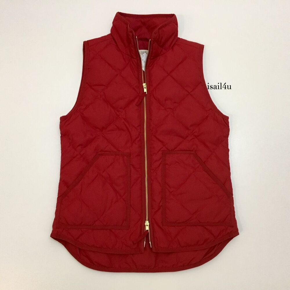 J Crew Factory Excursion Quilted Puffer Vest 2016 Nwt