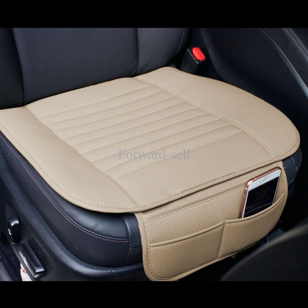 Gray Breathable PU Leather Bamboo Car Seat Cover Pad Mat