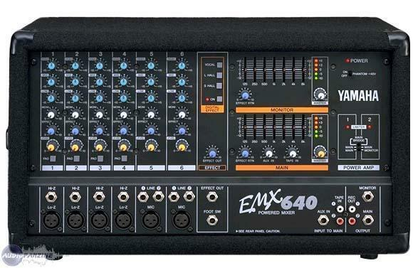 yamaha emx640 powered mixer ebay. Black Bedroom Furniture Sets. Home Design Ideas