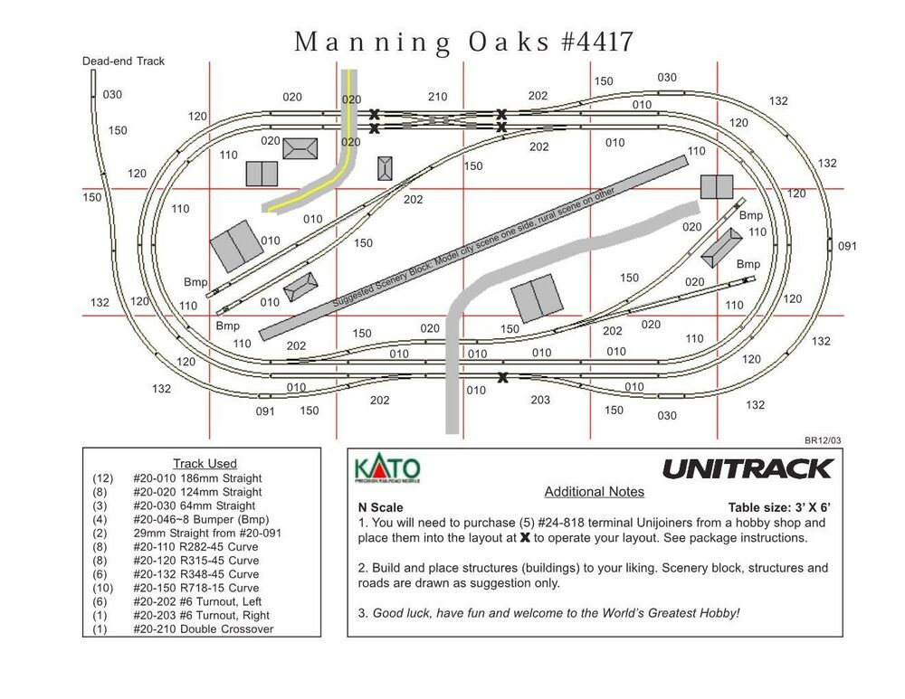 kato n scale  u0026quot manning oaks u0026quot  unitrack track layout train