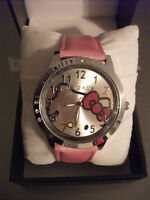 HELLO KITTY PINK DIMANTE WRIST WATCH WITH PINK STRAP NEW
