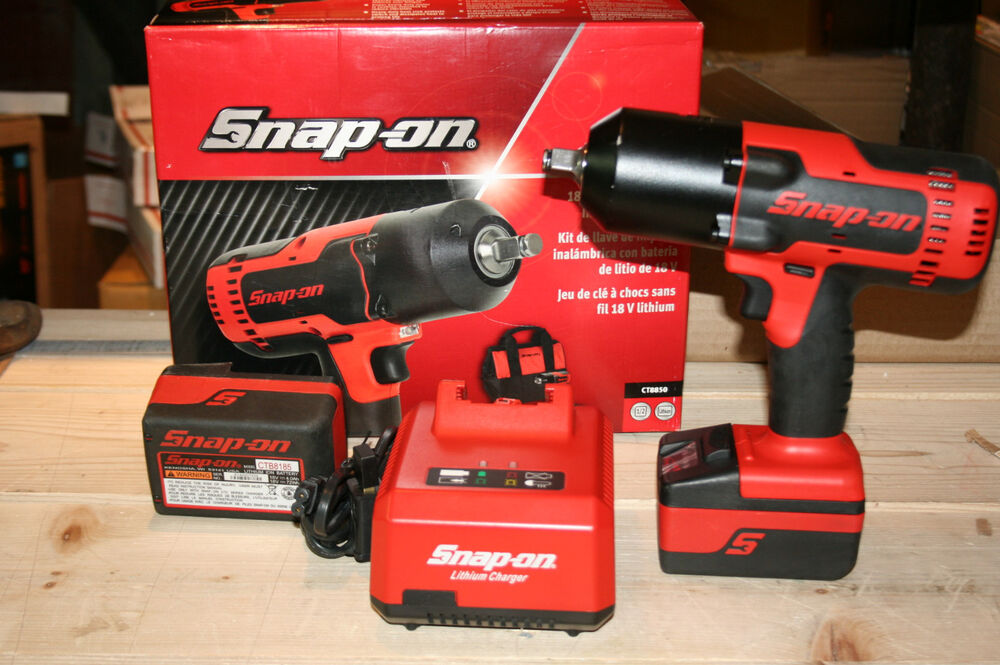 Snap On Impact Wrench Kit Cordless Lithium 1 2 Quot Drive