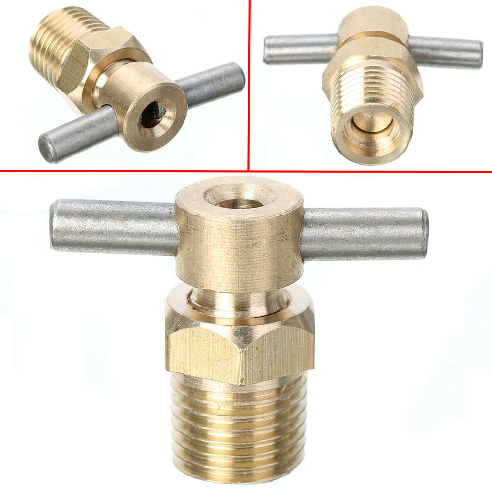 Quot inch npt petcock water drain valve for air compressor