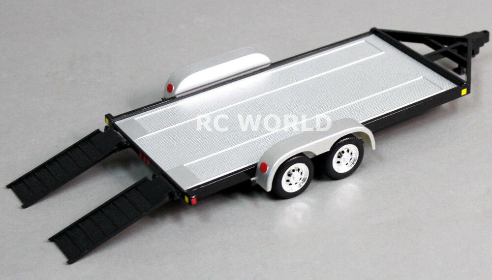 RC Scale Accessories METAL CAR TRAILER W/ Ramps 1/24 For ...