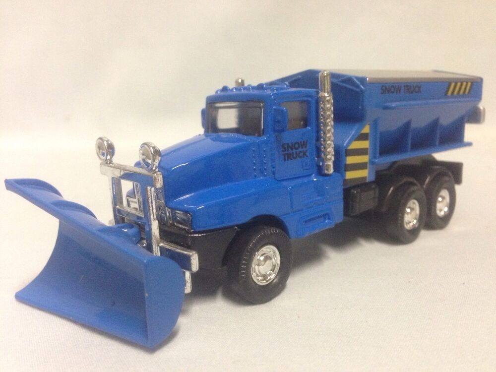 Toy Trucks For Boys : Snow plow salt truck quot diecast metal with swivel toy