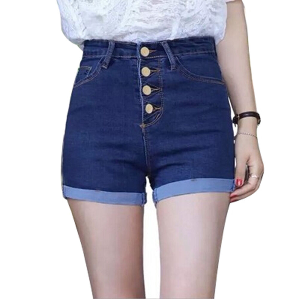 summer women sexy high waist jeans hot pants casual denim. Black Bedroom Furniture Sets. Home Design Ideas