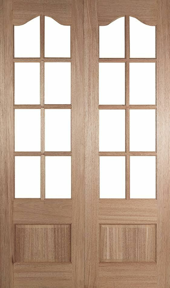 Internal hardwood glazed french patio pair doors many for Hardwood french doors
