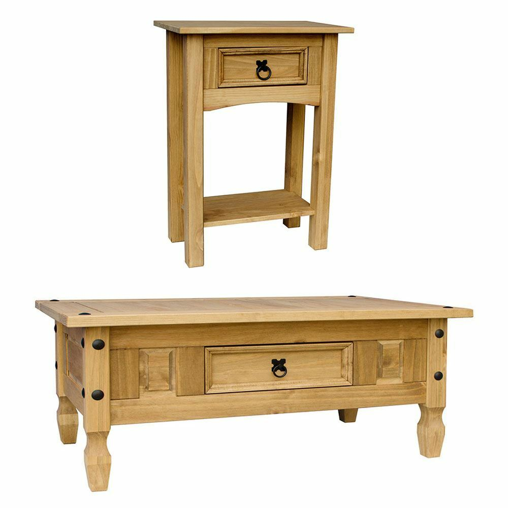 Corona Coffee Table With Drawer Console Table Mexican Pine Furniture Ebay