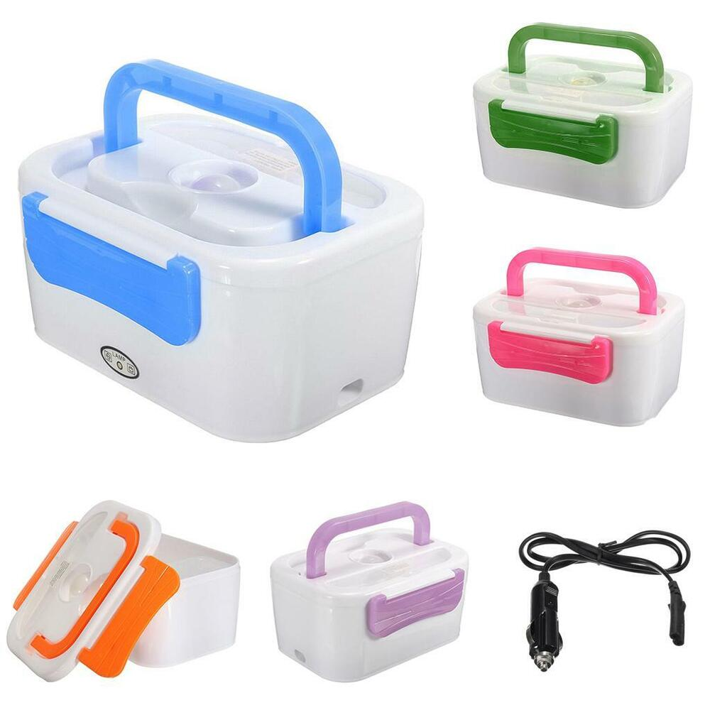 portable 12v car plug heating lunch box electric heated bento food warmer 5color ebay. Black Bedroom Furniture Sets. Home Design Ideas