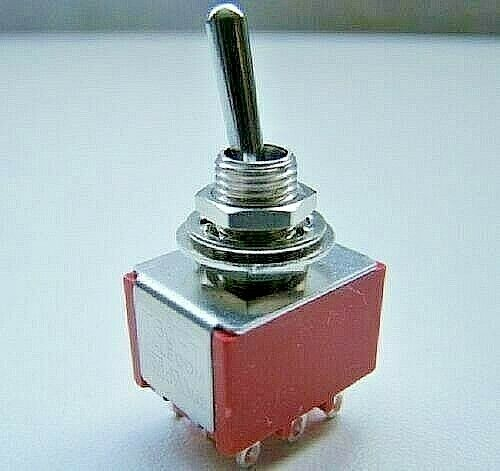 3pdt Three Pole Latching Toggle Switch On Off On Action