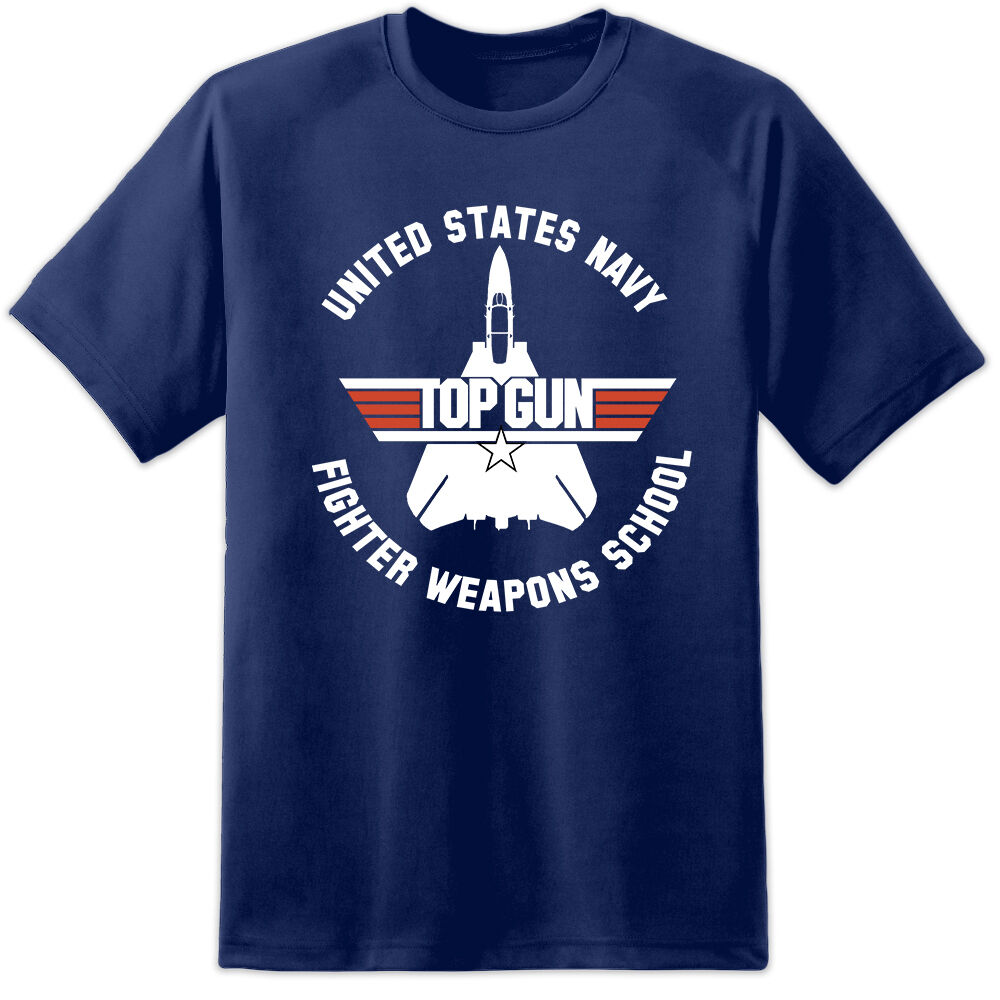 b720cf5e This classic Top Gun Fighter Weapons School t shirt is a tribute to the  mighty fast jet training academy in Miramar where Maverick & Goose do their  stuff in ...
