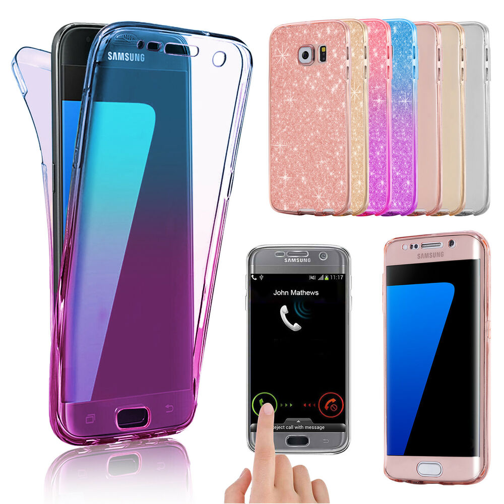 cover case ultra thin slim 360 tpu gel skin pouch for samsung galaxy s8 s6 edge ebay. Black Bedroom Furniture Sets. Home Design Ideas