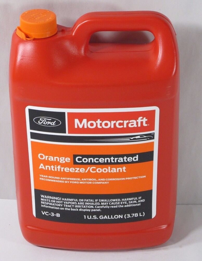 ford motorcraft orange concentrate antifreezecoolant vc   mercury linc jaguar ebay