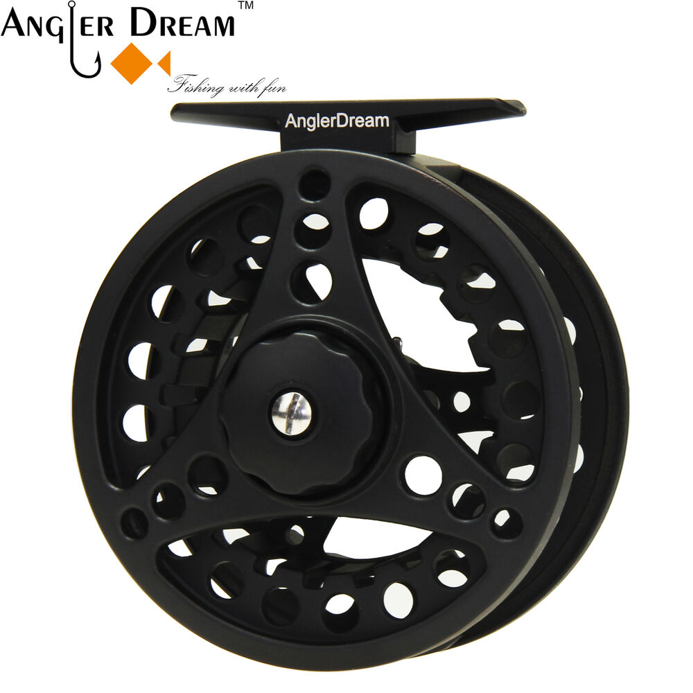 5 6 7 8wt fly fishing reel large arbor silver black for Fly fishing reels ebay