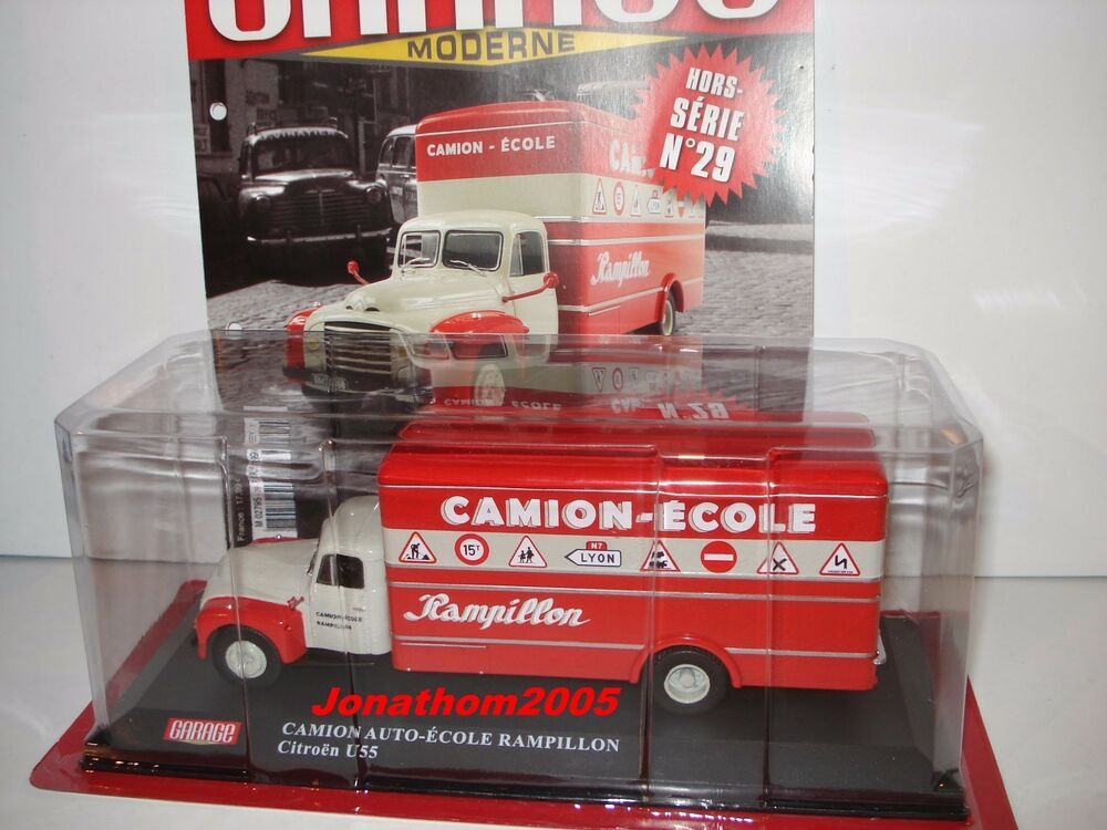 les vehicules du garage moderne citroen u55 camion ecole rampillon au 1 43 ebay. Black Bedroom Furniture Sets. Home Design Ideas