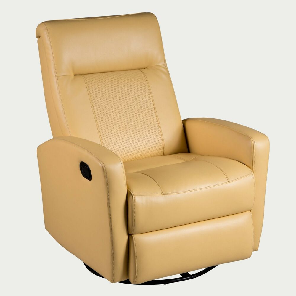 Stefan Swivel Glider Recliner In Diego Yellow Color Ebay