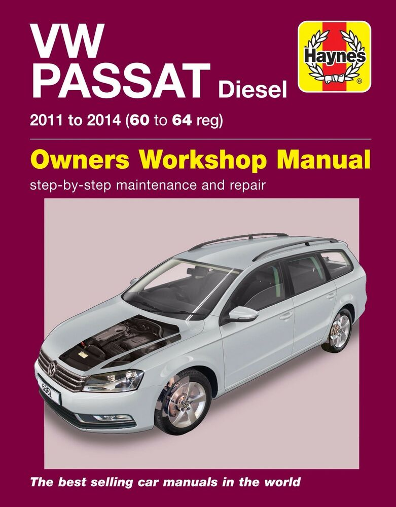 volkswagen passat 1 6 2 0 tdci diesel 2011 2014 haynes manual 6361 ebay. Black Bedroom Furniture Sets. Home Design Ideas