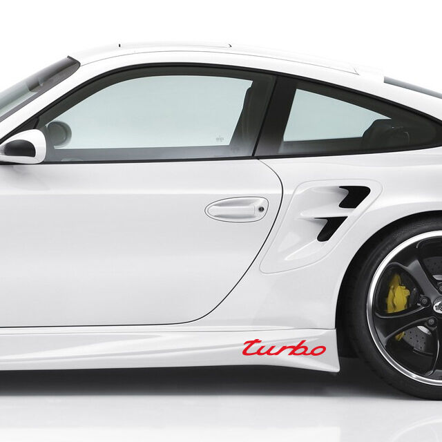 new turbo porsche boxster cayenne panamera 911 gt s cayman red decal sticker ebay. Black Bedroom Furniture Sets. Home Design Ideas