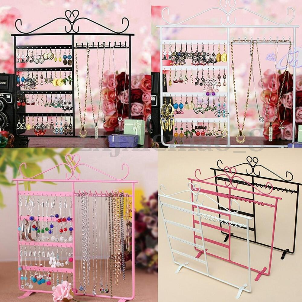 Exhibition Stand Organizer : Earrings necklace ear studs jewelry display show metal