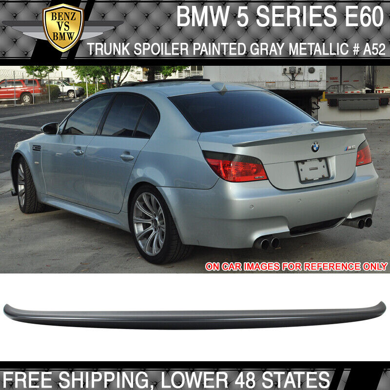 04 10 bmw 5 series e60 4dr ac style trunk spoiler painted. Black Bedroom Furniture Sets. Home Design Ideas