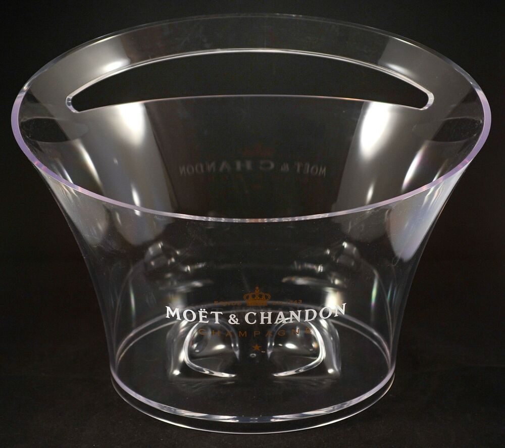 champagne moet chandon ice bucket bowl vasque acrylic by jean marc gady new ebay. Black Bedroom Furniture Sets. Home Design Ideas