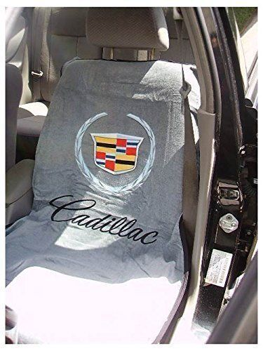 2010 2017 cadillac logo gray seat cover seat armour towel. Black Bedroom Furniture Sets. Home Design Ideas