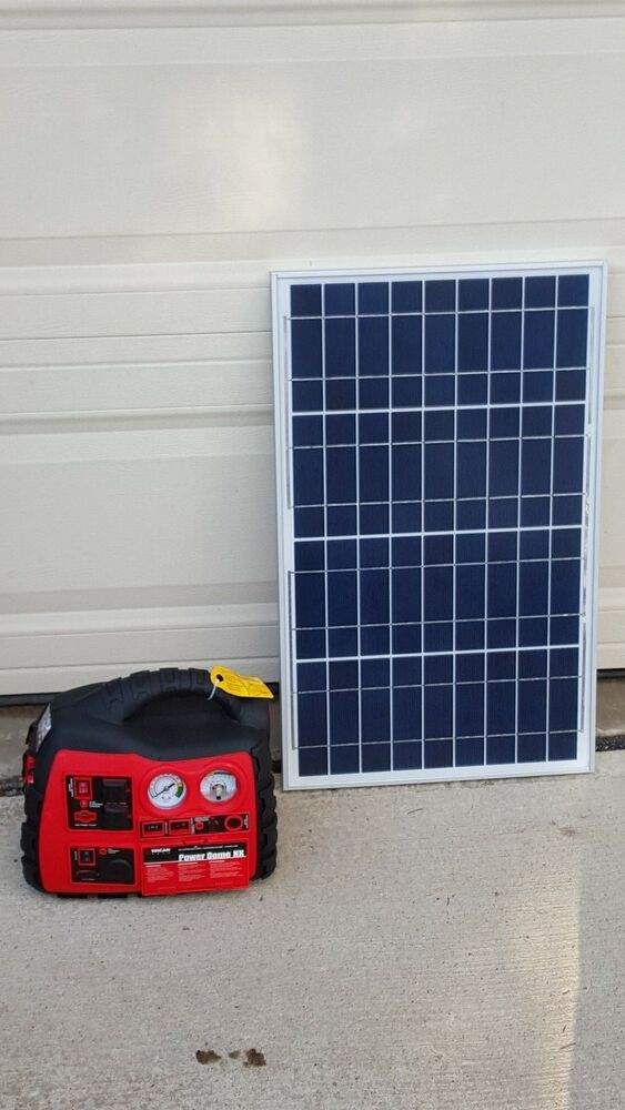 plug n play portable solar power kit solar generator with new 25ft wire ebay. Black Bedroom Furniture Sets. Home Design Ideas