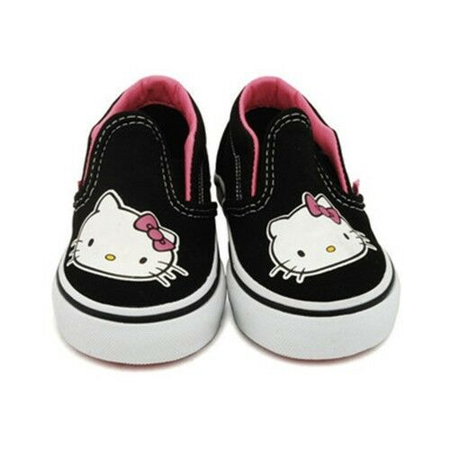 Details about VANS CLASSIC SLIP-ON HELLO KITTY True Pink Black Discounted  (329) Toddler Shoes 2e076a078