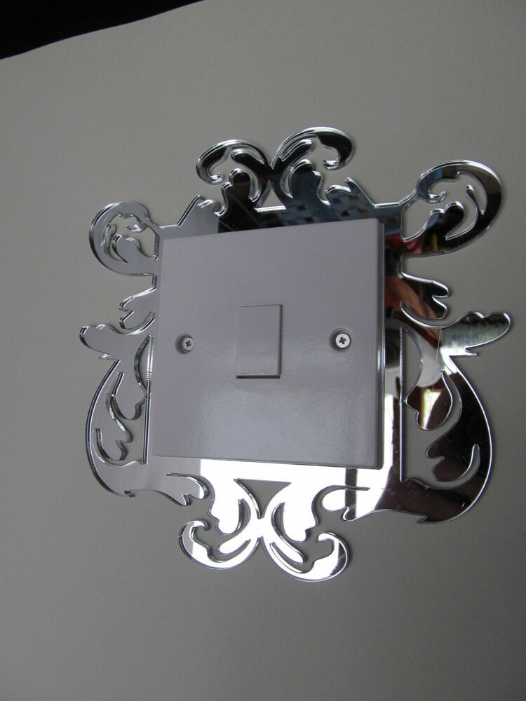 Baroque light switch finger plate mirror lightswitch for Decor light switch