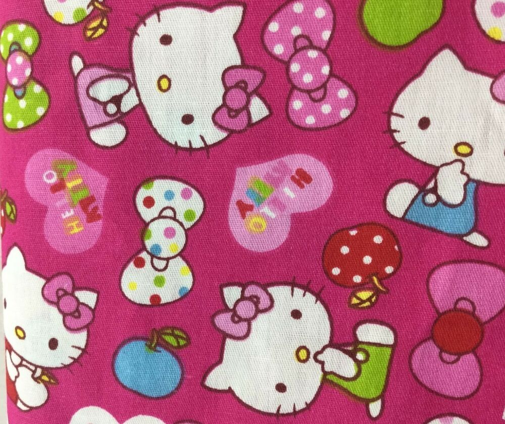 160cm wide pink hello kitty cat print cotton fabric kids for Cotton fabric for children s clothes