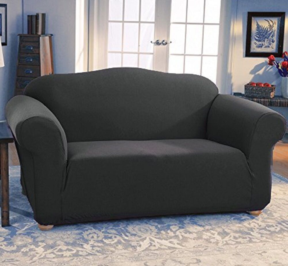 Sofa Stretch Covers: JERSEY STRETCH FIT 2 Pc Furniture Slipcover Set, Sofa