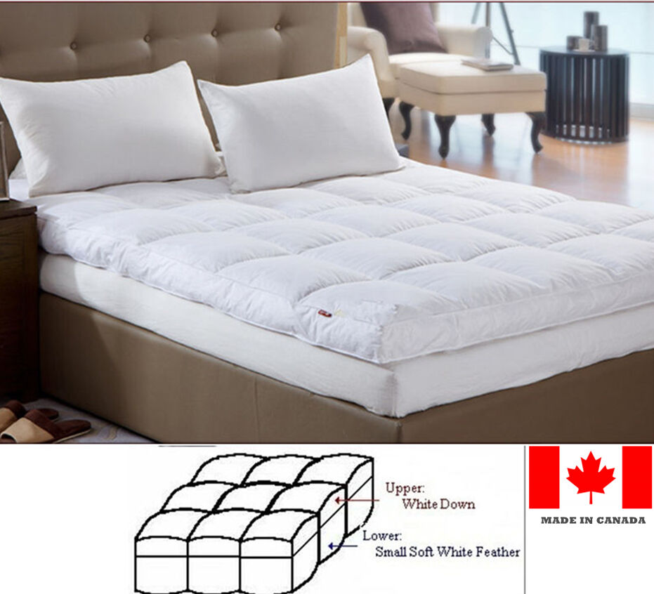 Luxury Down Feather Bed Mattress Topper Custom Made In