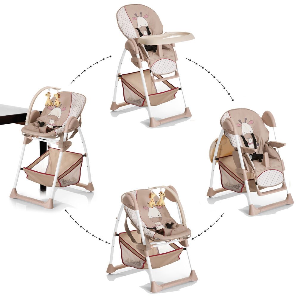 new hauck sit n relax 2 in 1 highchair baby high chair bouncer giraffe ebay. Black Bedroom Furniture Sets. Home Design Ideas