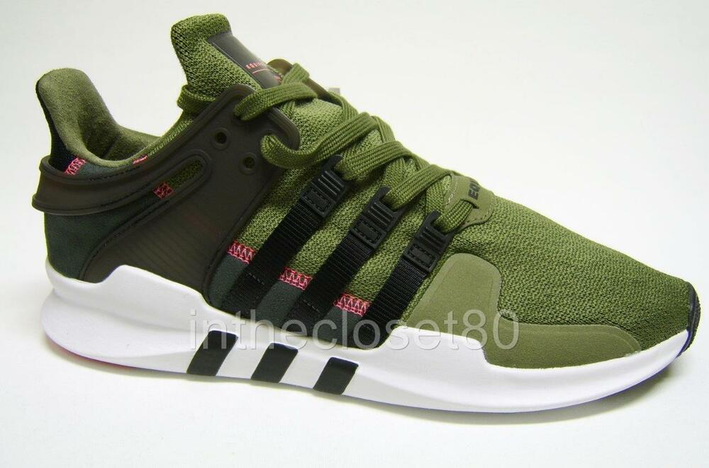 886fcfeeae5d Adidas EQT Support ADV 91-16 Olive Cargo Green Black Turbo Mens Trainers  S76961