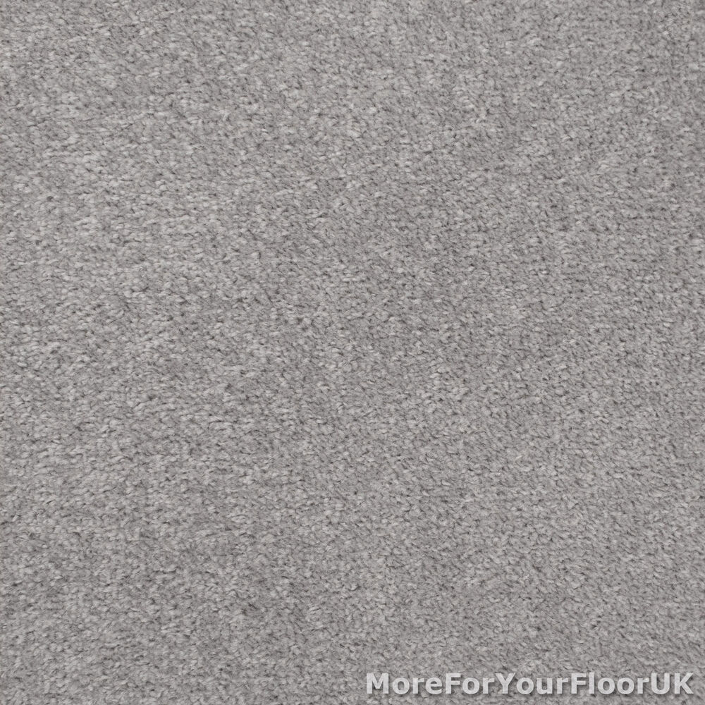 Silver grey feltback twist bedroom carpet cheap roll ebay for What is the best carpet to buy
