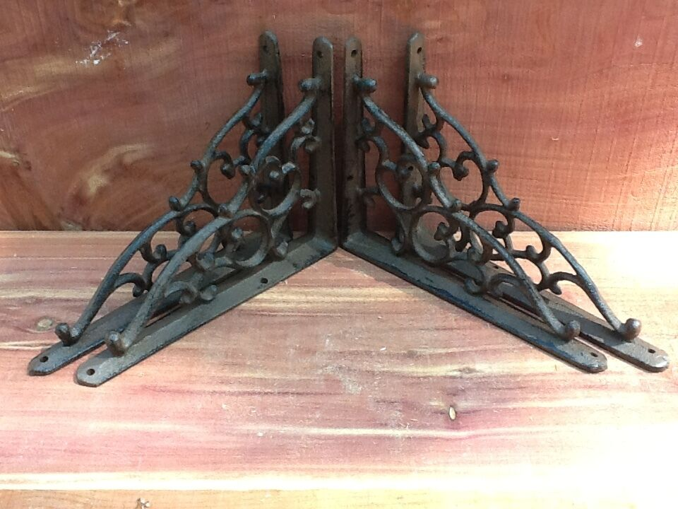 4 Antique Style Leaf & Vine Corbels Shelf Brace Wall