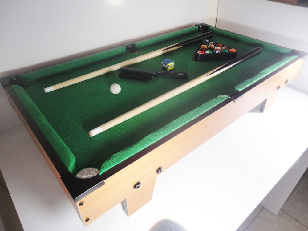 wood mini tabletop pool family game wooden billiards table set with legs 76x42cm ebay. Black Bedroom Furniture Sets. Home Design Ideas